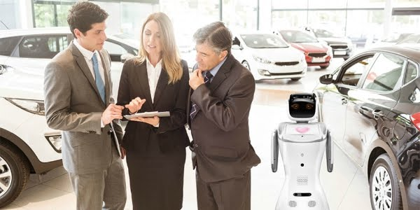 sanbot best robot technology car showroom sales dealership replacement attract customers
